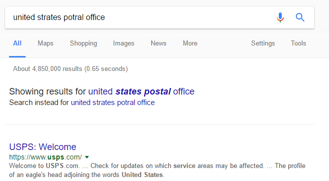 United States Postal Office in Google